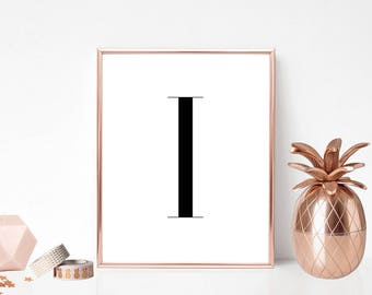SALE -50% Letter I Monogram Alphabet Name Digital Print Instant Art INSTANT DOWNLOAD Printable Wall Decor