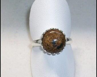 Bronzite Ring in Sterling Silver