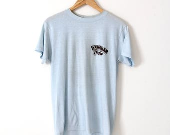 vintage Hawaiian Tropic t-shirt, 80s graphic tee, beach tee-shirt