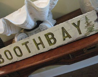 Made to Order Custom Vintage Antique Style Wooden Sign Beach Wedding Fav Place Hand Picked Painted 4 You Cost Varies Contact  B 4 Purchasing