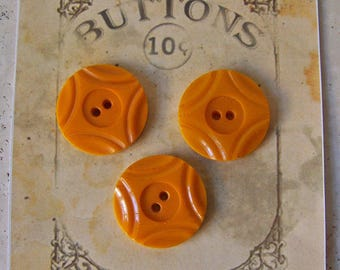 Vintage Butterscotch Bakelite Buttons Sewing Room Button Collector Vintage Supply Vintage 1930s