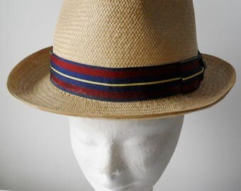 Vintage Straw Panama Hat by Christy's of London