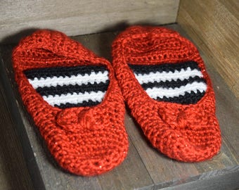 Nessa Rose Ruby Red Slipper (Slipper Socks)