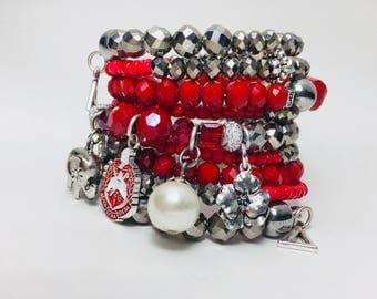 Delta Sigma Theta Snake Bracelet