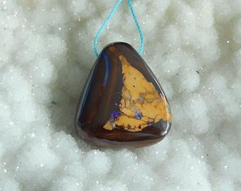 New,Boulder Opal Gemstone triangle Pendant Bead,29x25x11mm 12.5g