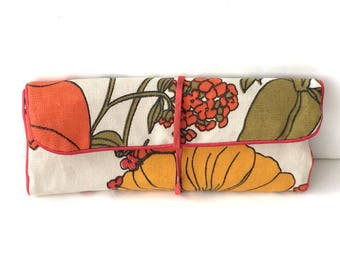 Makeup Pouch, Jewelry Pouch, Vintage Jewelry Pouch, Jewelry Travel Bag, Jewelry Travel Pouch