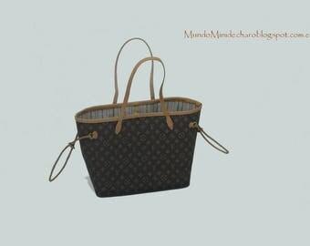 1/6 scale miniature bag, Neverfull