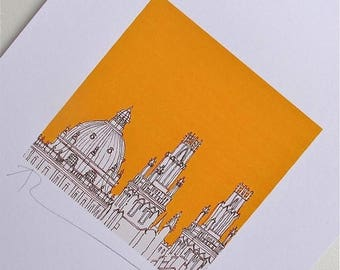 ON SALE Oxford Rooftops Print