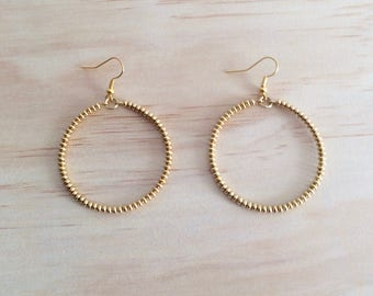 Gold Circle Earrings - Free Shipping Worldwide