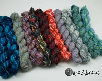 Sock Weight - Mini Skeins - 100% Alpaca Yarn - Made in Canada - Pick a mini or two :)