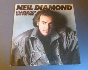 Neil Diamond Headed For The Future Vinyl Record LP OC 40368 Columbia Records 1986
