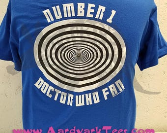 Number 1 Who Fan - Parody Time Tunnel & Doctor Who Tee