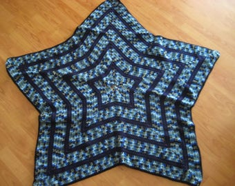 Handmade Star-Shaped Crochet Afghan Blanket