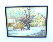 Vintage PBN WINTER SCENE