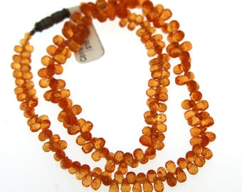 Fancy Orange Citrine Necklace Graduated up to 8mm x 6mm