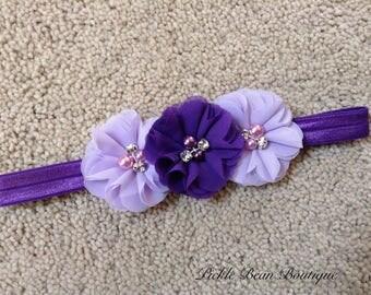 Purple Headband, Purple Lavender Head Band, Baby Headband, Infant Headband, Girls Headband, Headband, Birthday Headband, Purple Head Band
