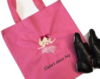 Dance Bag Personalized, Dance Bag, Ballet Bag, Dance Tote, Ballerina Bag, Personalized Ballerina Bag, Ballet Bag, Personalized dance Bags