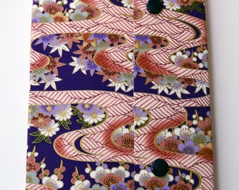 Handmade Sketchbook with Longstitch Vintage Japanese Fabric Cover