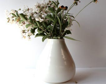 MADE TO ORDER....White Vase, Handcrafted Wheel Thrown Pottery, by Hope