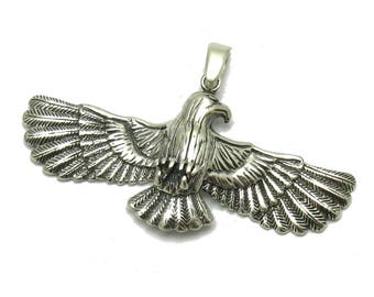 PE001242 Sterling silver pendant  solid 925 Eagle