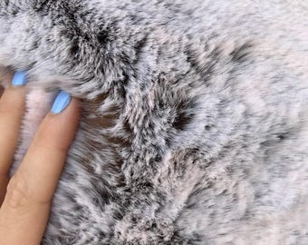 "Two Tone Beaver Fur - 60"" Wide Faux Fur Fabric"