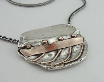New israel design 9k yellow Gold 925 sterling Silver  pendant , gift , chain ,(4809g