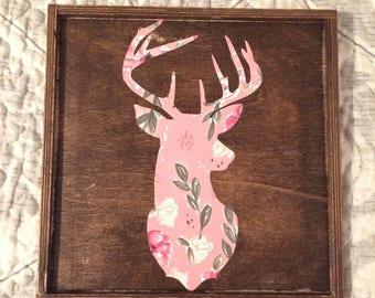 Deer Antlers Silhouette Sign