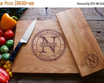 ON SALE Personalized Cutting Board Set, 12x15 and 6x15, Engraved Cutting Board, Personalized Wedding Gift, Wedding Gift, Housewarming Gift