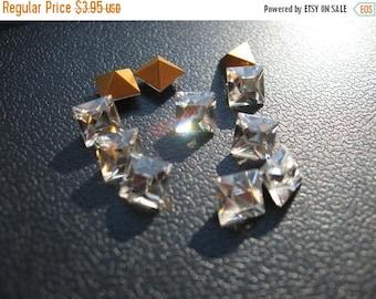 SPECIAL Vintage Swarovski Crystal Rhinestones 5mm Square QTY - 8