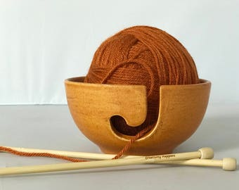 Ceramic Yarn Bowl | Knitting | Yarn Bowl | Pottery | Knitting Holder | handmade in my Charleston, SC studio