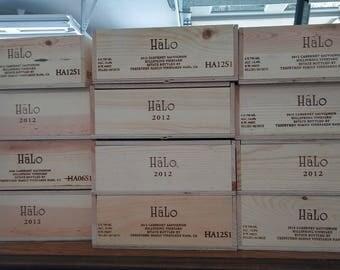 Halo Crate / Wine Crates /Wooden Wine Crate / Wedding Display / Wedding Decor/ Wedding Card Box /  Tiny House Drawers