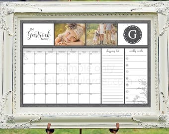 Digital Dry Erase Calendar - 20x30 Custom  Calendar - 20x30 JPEG Digital/Printable File  - You Choose Your Color - You Print