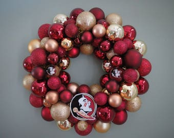 FSU FLORIDA State SEMINOLES Team Ornament Wreath1 Noles Wreath