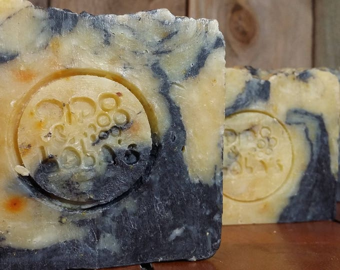The Yinzer (Peppermint Orange Pumice) Soap --  All Natural Soap, Handmade Soap, Barely Scented, Hot Process Soap, Vegetarian Soap