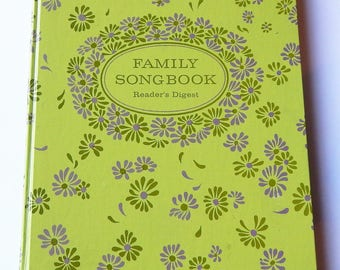 Vintage Song Book - Readers Digest Song Book - Family Song Book - Nostalgic Songs - 1969 Music Book