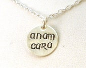CUSTOM: Anam Cara Charm in Irish Font
