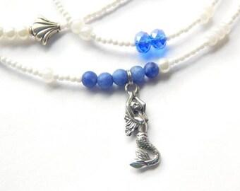 Yemaya Waist Beads, Indigo Matte Sodalite Waist Beads, Ocean Goddess Waist Beads, Spiritual Waist Beads, Orisha Waist Beads