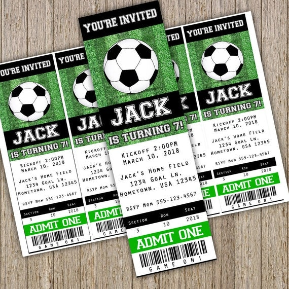 Soccer Invitation Soccer Birthday invitation Soccer Party