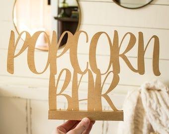 Popcorn Bar Sign Wedding Popcorn Bar Wedding Sign