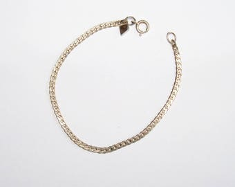 Vintage Chain Bracelet Sarah Coventry Silver Tone Jewelry Jewellery Gift for Her or Him