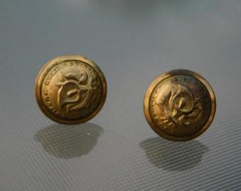 Antique Knights of Pythias Uniform Rank Gold Tone Buttons  Dr35
