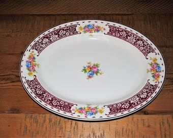 Homer Laughlin PICCADILY Platter Vintage 1944