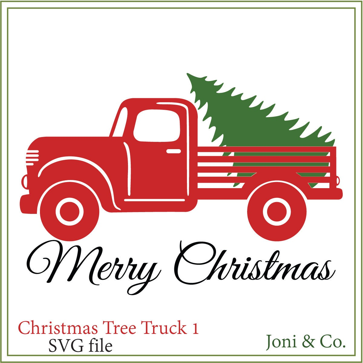Christmas Tree Truck SVG Christmas truck Christmas signs