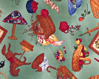 Country Home Furnishings Quilt Fabric, by Anna Krajewski, for South Sea Imports, 100 Percent Cotton, Fabric by the Yard