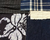 Vintage Indigo Boro Patch Scrap for Artist Collage Quilting Story Board, Jacket & Tote Bag Repair