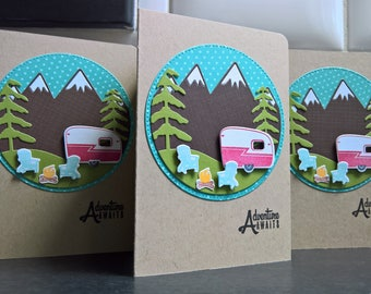 Congratulations on Your Retirement, Adventure Awaits Greeting Card, Mountain, Coworker Card,  Happy Camper Van Card, Bon Voyage Card, RV,