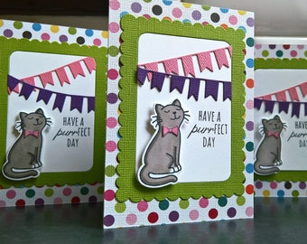 Cat Lover Birthday Card, Cat Card, Cat Greeting Card, Happy Birthday Card, Kitty Birthday Card