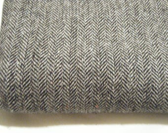 Herringbone fabric Destash with metallic Accents //Sewing Supplies // Heavyweight Vintage Fabric