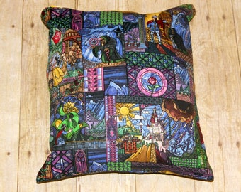 Stained Glass Fairy Tale Large Wet Bag, Cloth Diaper Wet Bag, Reusable Waterproof Bag, Beach Bag, Pool Bag, Swimsuit Bag, Wetbag
