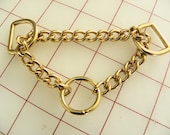 2 Solid Brass Martingale 8 Inch Chain Assembly 3 Chrome Assemblies for Dog Collar
